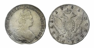 1 рубль 1782 года