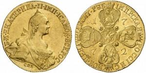 10 рублей 1772 года