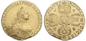 5 рублей 1764 года