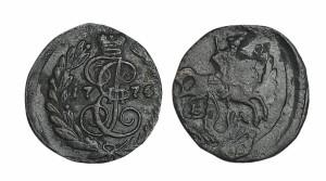 Полушка 1776 года