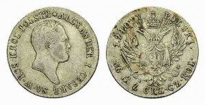 1 злотый 1819 года