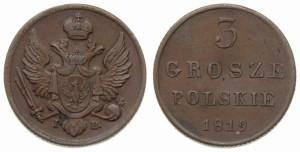3 гроша 1819 года
