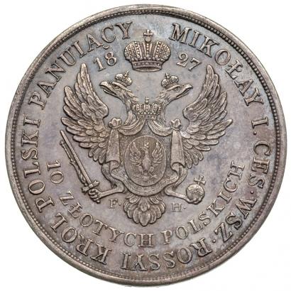 10 злотых 1827 года
