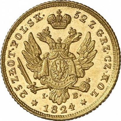 25 злотых 1824 года