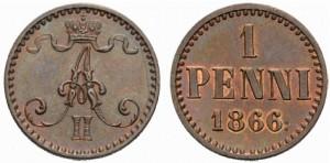 1 пенни 1866 года