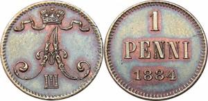 1 пенни 1884 года