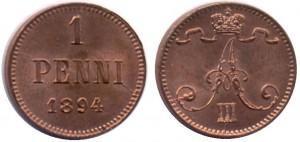 1 пенни 1894 года