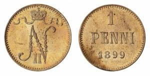 1 пенни 1899 года