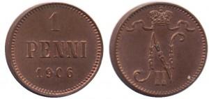 1 пенни 1906 года