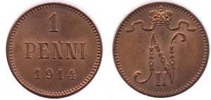 1 пенни 1914 года