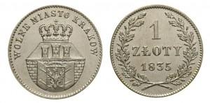 1 злотый 1835 года