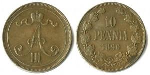 10 пенни 1890 года