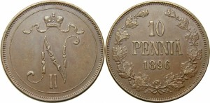 10 пенни 1896 года