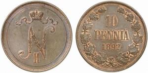 10 пенни 1897 года