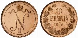 10 пенни 1916 года