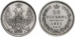 20 копеек 1851 года