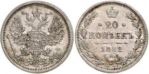 20 копеек 1882 года