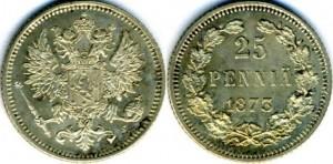 25 пенни 1873 года