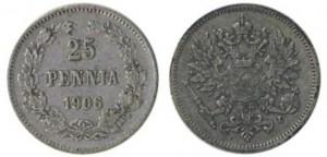 25 пенни 1906 года