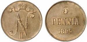 5 пенни 1896 года