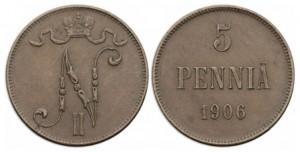 5 пенни 1906 года