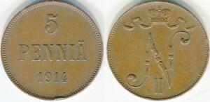 5 пенни 1914 года