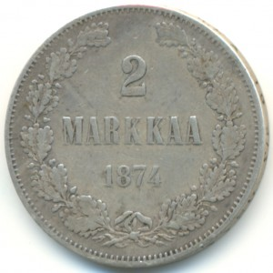 2 марки 1874 года