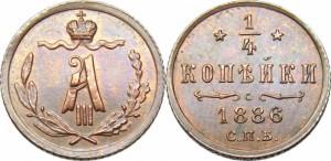 1/4 копейки 1886 года